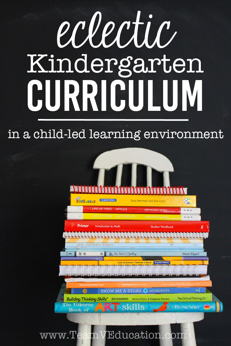 Eclectic homeschool kindergarten curriculum for child-led learners. It is possible to find a balance between the two.
