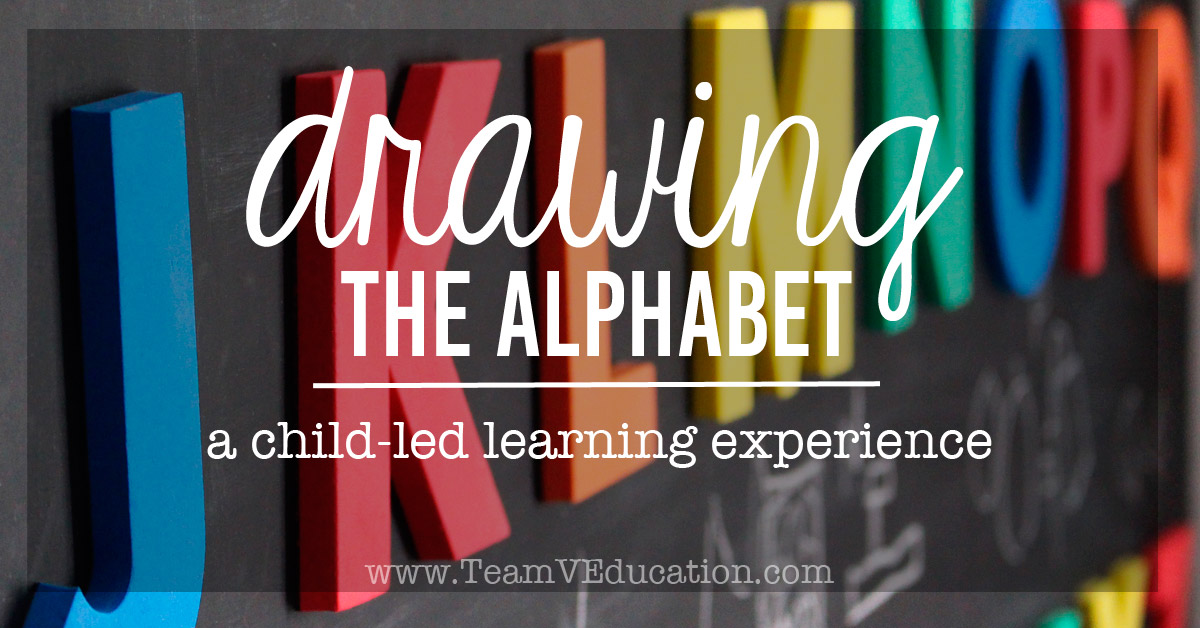 Do you have a creative learner? This fun and open-ended literacy activity provides your child with the freedom to demonstrate their understanding of the alphabet in a creative way. Drawing the alphabet - try it out!