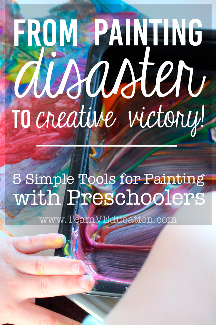 Five key elements that transform painting with preschoolers and kindergarteners from disaster to creative victory! By implementing these ideas, painting with little ones will be a breeze!