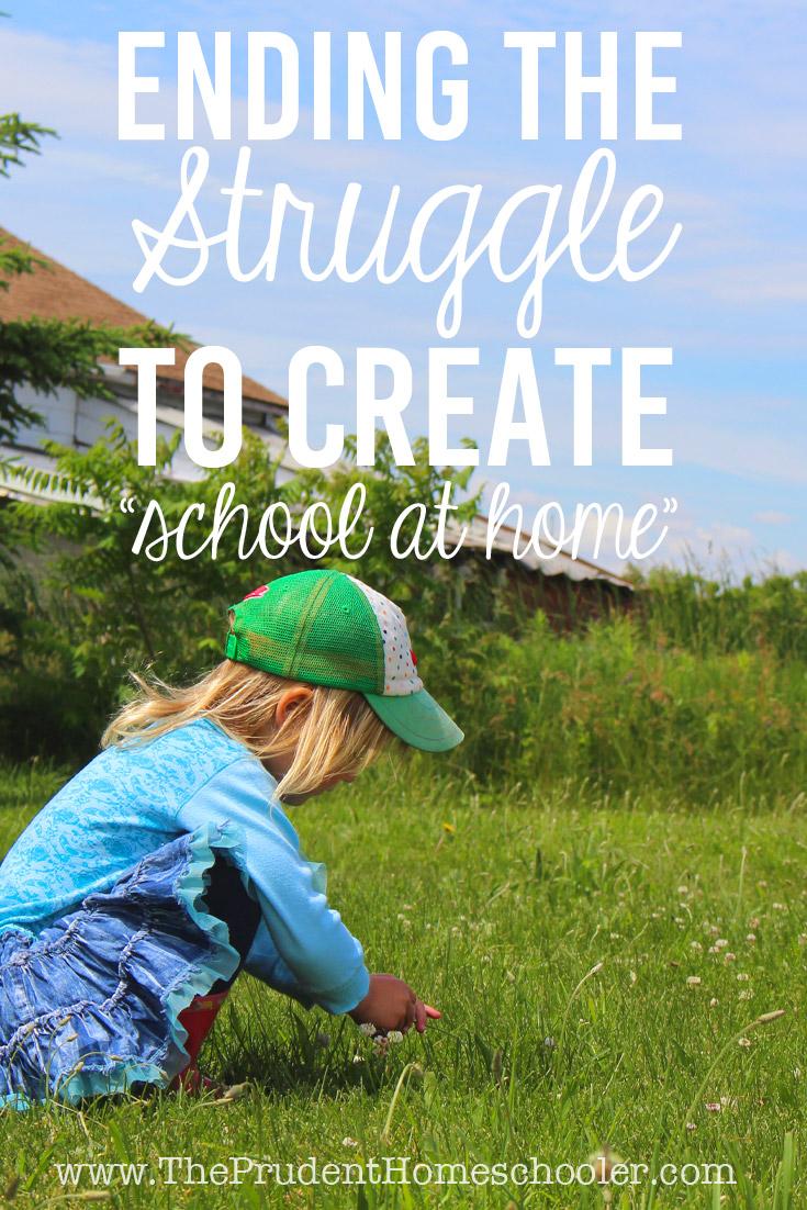 End the struggle to create