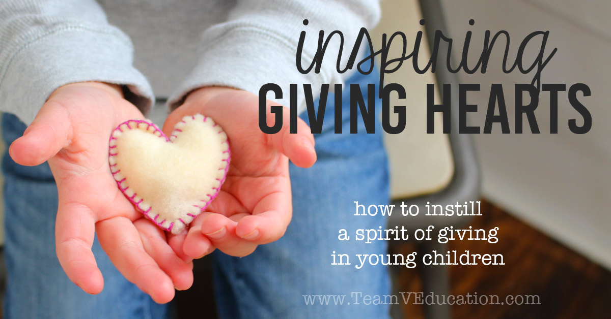 How do you inspire your children to develop a spirit of giving, especially throughout the Christmas season? Use these great ideas to teach young ones to give of their time, talents, and even money.