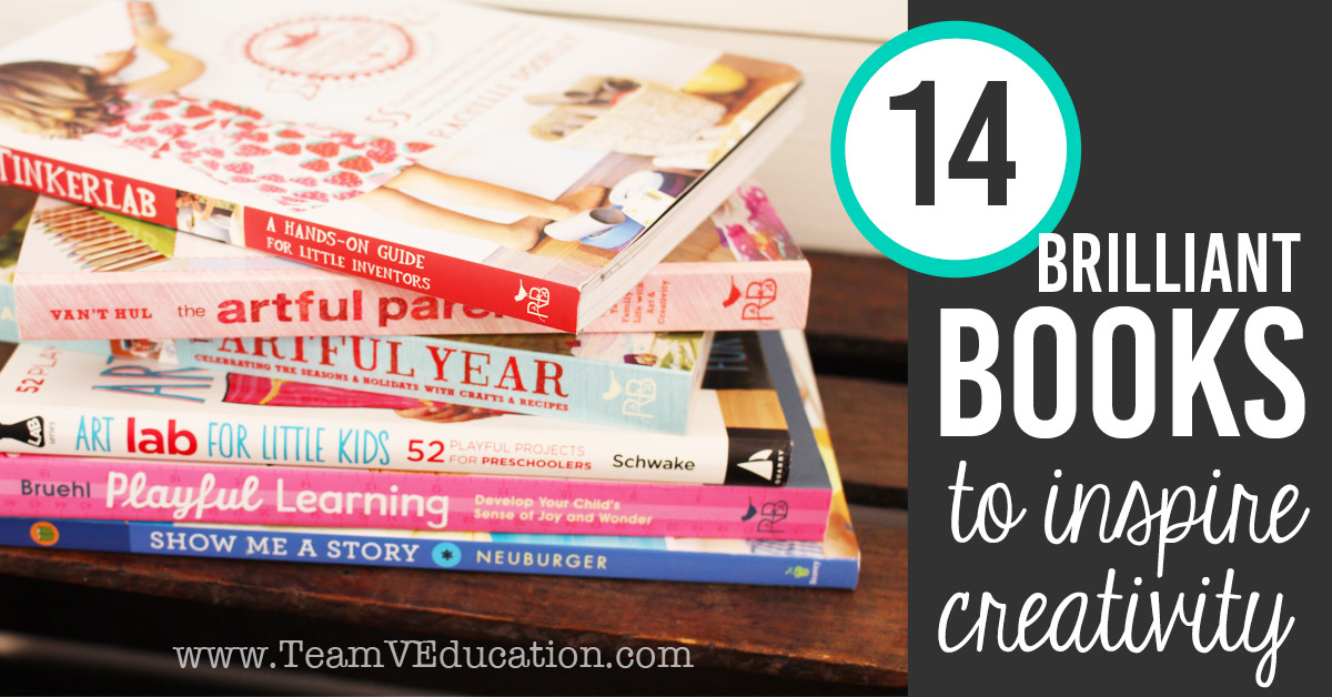 14 books to inspire creativity in children. Perfect for homeschooling families, creative educators/teachers, parents, and grandparents. Wonderful Christmas gift ideas for the creative teacher in your family!
