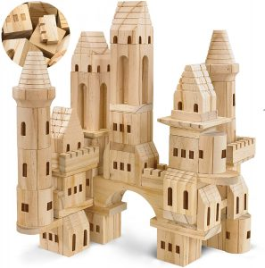 Wooden Castle Blocks have been a gem in our home for simple and creative building fun.