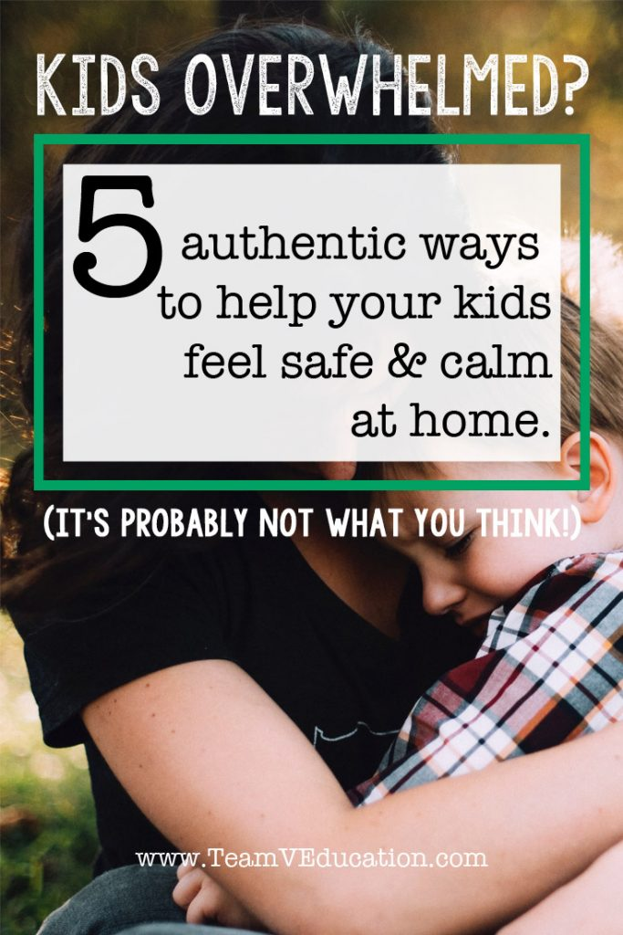 Our children need home to be a retreat from the world around them. Discover how to help your kids feel safe and calm at home.